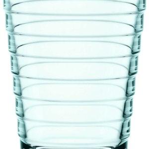 Iittala Aino Aalto Set of Two Glass Tumblers, Water Green, 11-Ounce Capacity each
