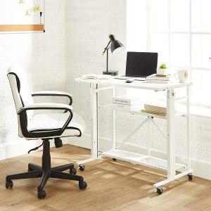 Amazon Basics Foldable Standing Computer Desk with Storage Shelf