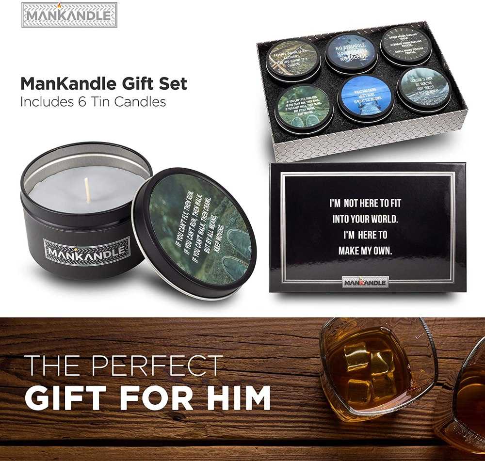 Majestic Zen's-ManKandle Luxury Scented Candles Gift Set for Men