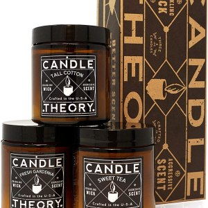 Scented Candle Gift Set with Crackling Wood Wicks