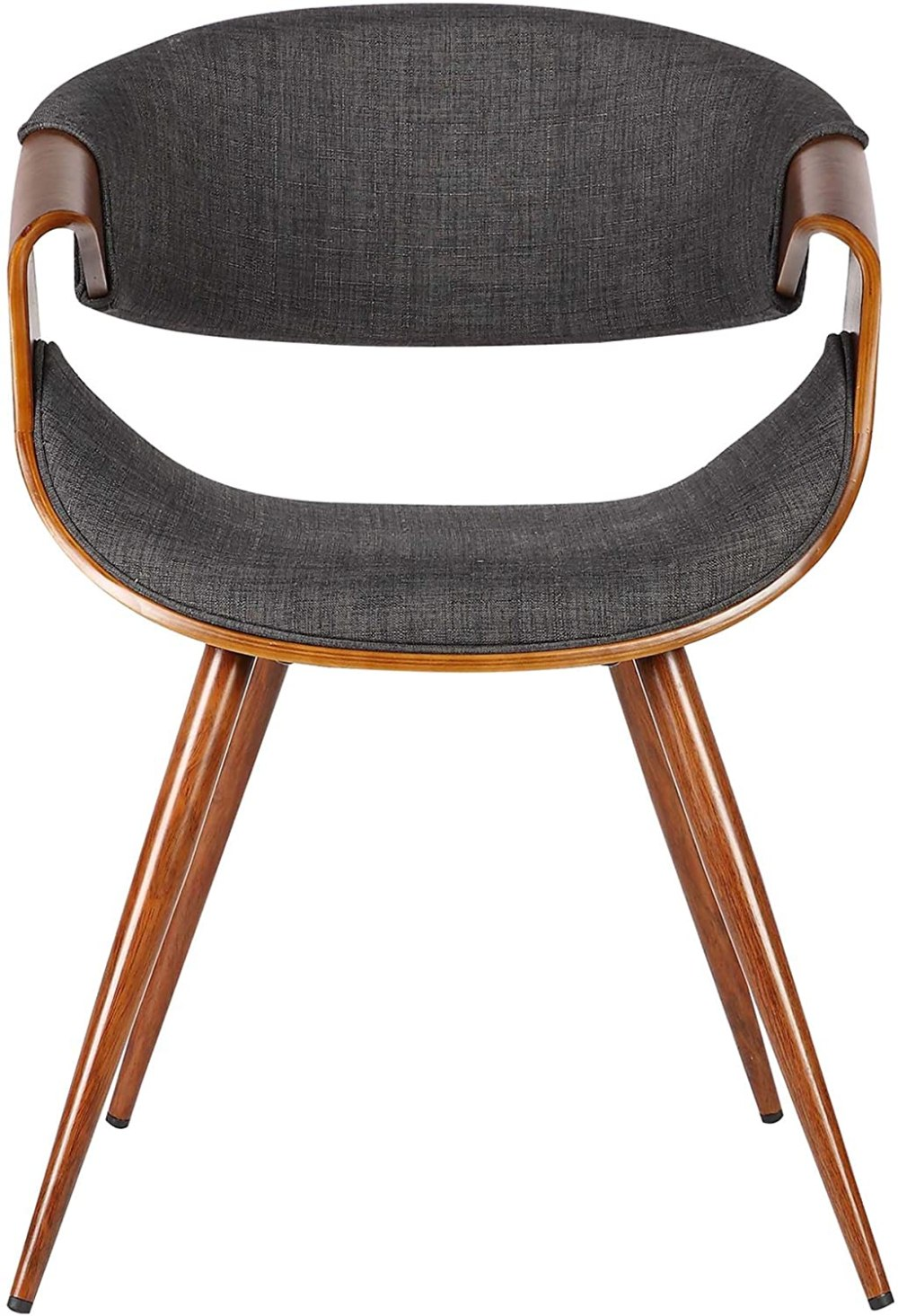 Armen Living Butterfly Dining Chair in Charcoal Fabric