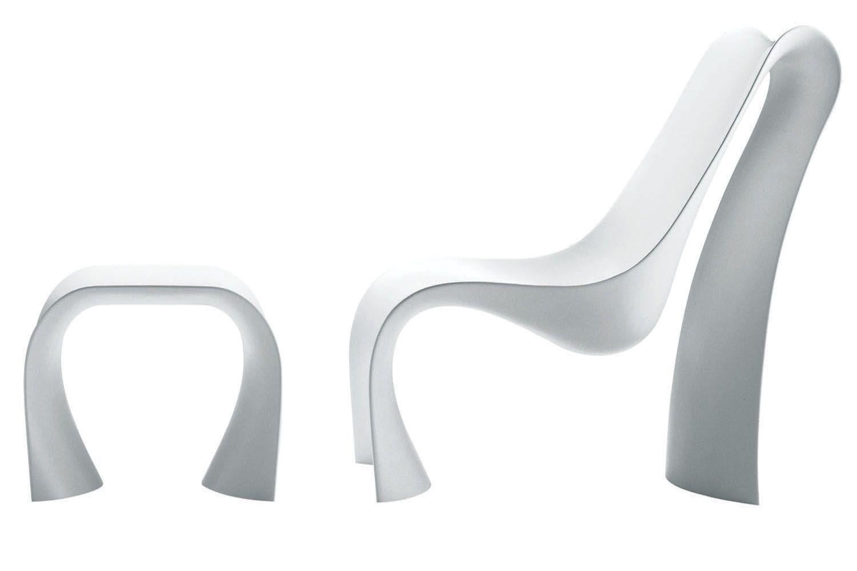 Brasilia Lounge Chaise & Ottoman by Ross Lovegrove for Zanotta