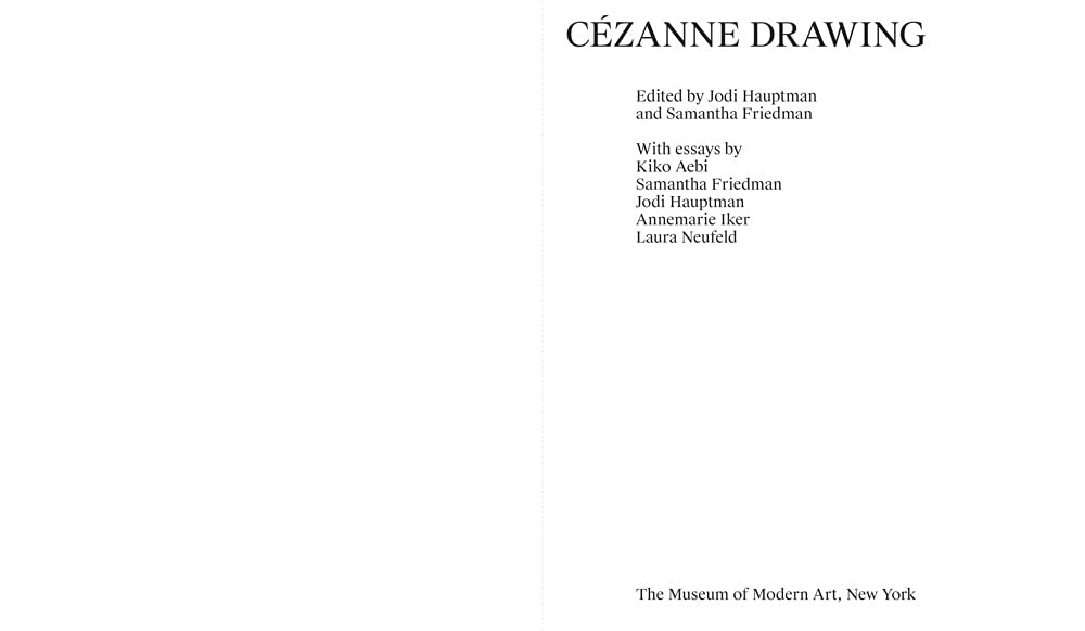 Cezanne Drawing (MoMA) hardcover sample page