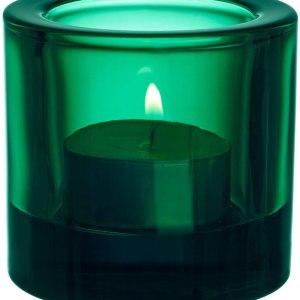 Iittala Kivi, Emerald, 6 x 6 x 7 cm Glass Tealight Holder