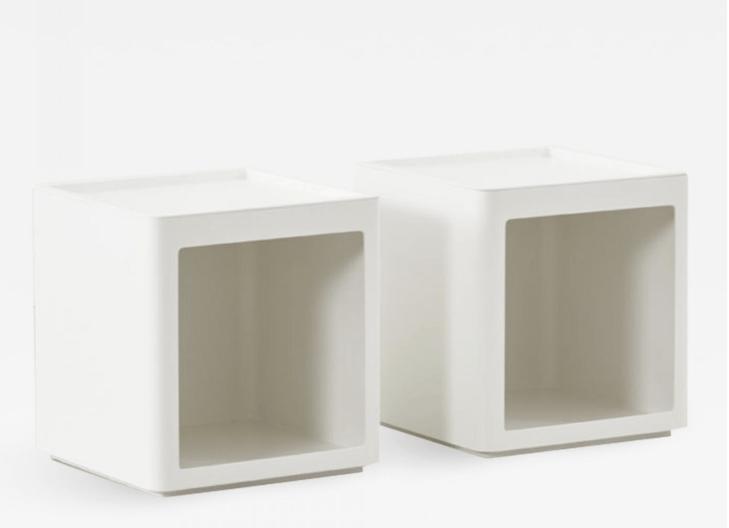 Pair of modular units by Giorgina Castiglioni Valenti, Italy, c.1960