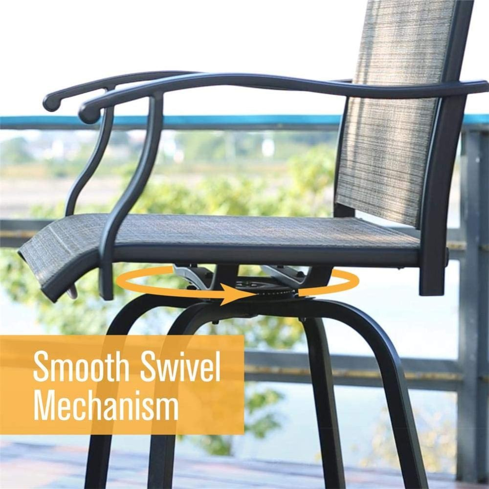Swivel Bar Stool Set of 2