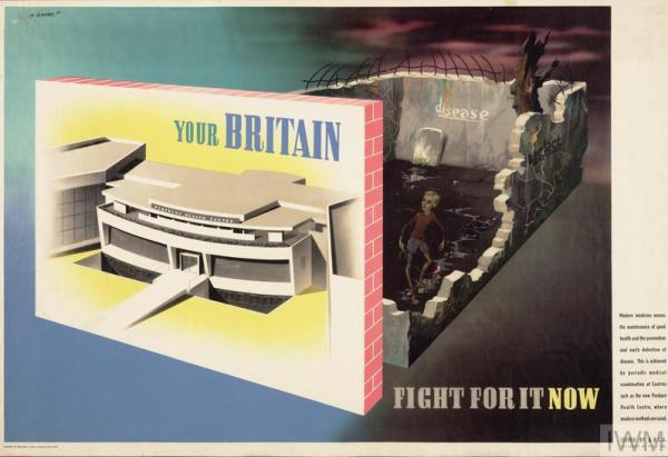 Your Britain Fight for it Now designed by Abram Games