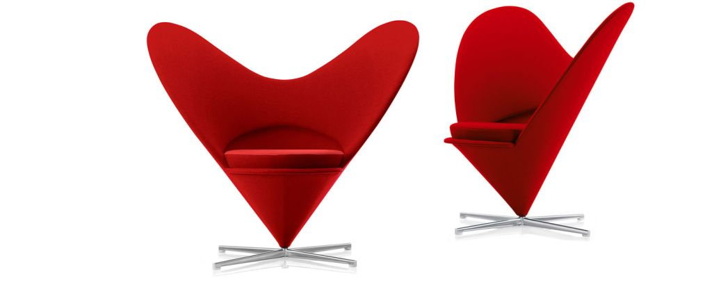 Heart Cone Chair, 1958 by Verner Panton
