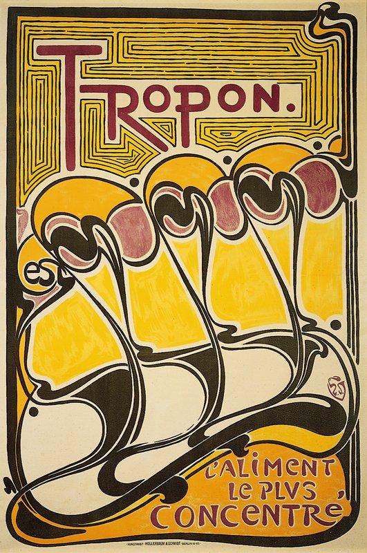 Tropon, 1925 colour lithograph designed by Henry van de Velde