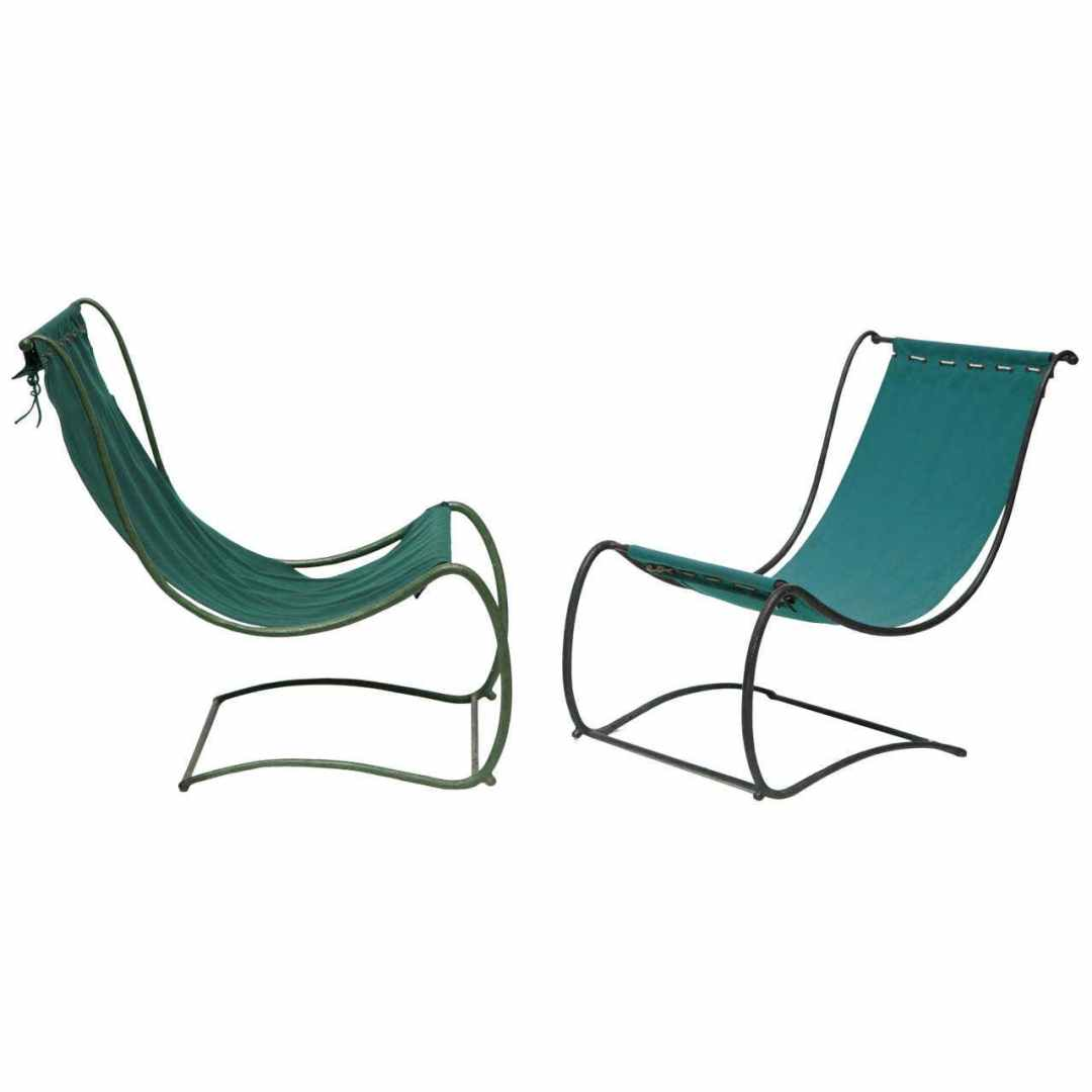 Jean-Charles Moreux, Rare Pair of Garden Chairs, France, C. 1935
