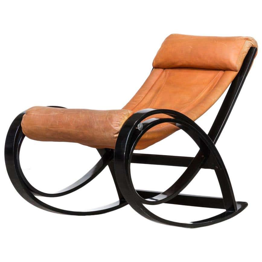'Sgarsul' Rocking Chair for Poltronova by Gae Aulenti
