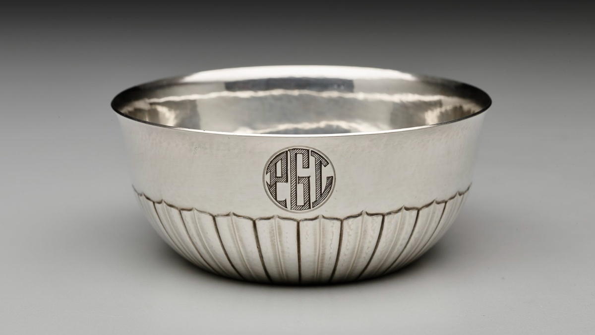 Cosmos pattern waste bowl (1915) designed by Johan Rohde