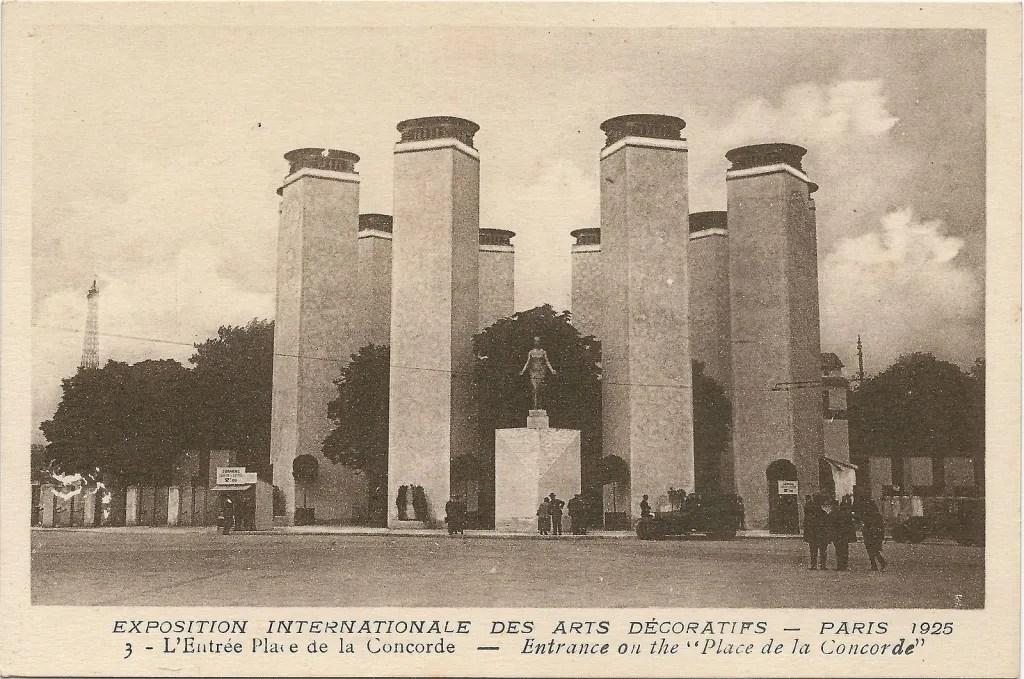 Expo 1925 Arts décoratifs-entrée Place de la Concorde designed by Pierre Patout