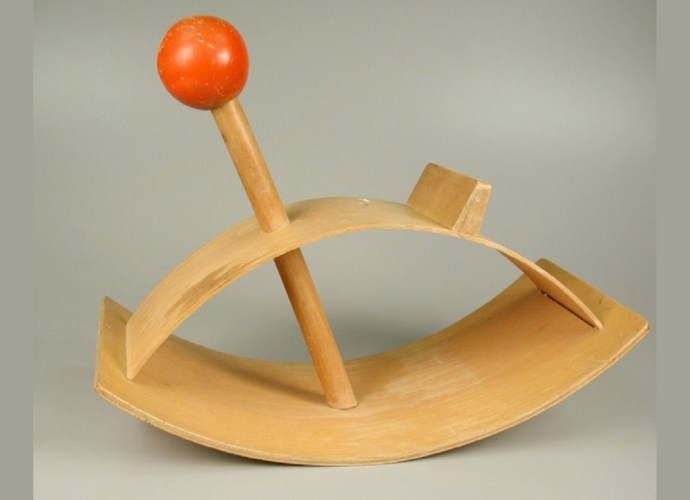 Red Ball Rocking Horse - Eames Style