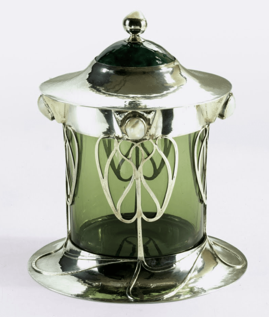 Box with cover and glass liner by Charles Robert Ashbee