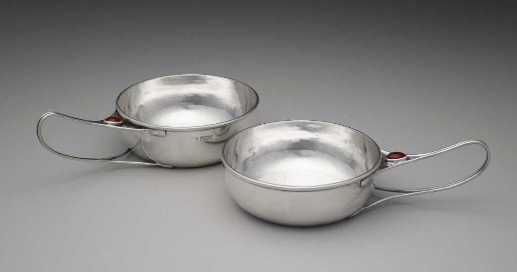 Pair of Jam or Butter Dishes by Charles Robert Ashbee