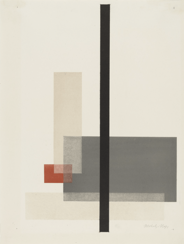 Composition from Masters' Portfolio of the Staatliches Bauhaus, 1923 by László Moholy-Nagy (MoMA)