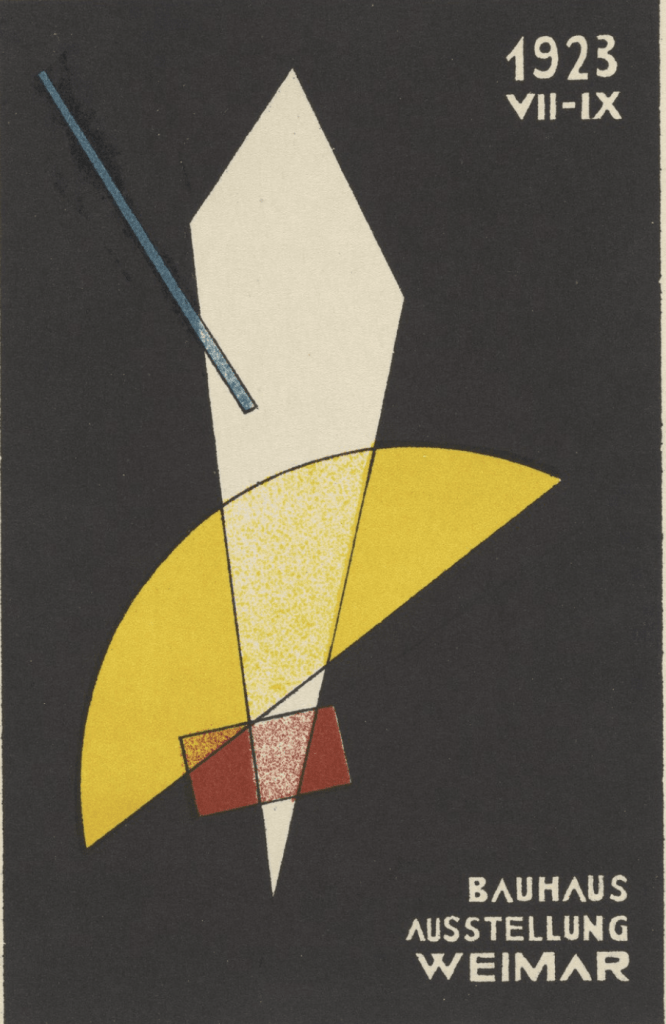 Bauhaus Ausstellung Weimar 1923, 1923 by László Moholy-Nagy (MoMA)