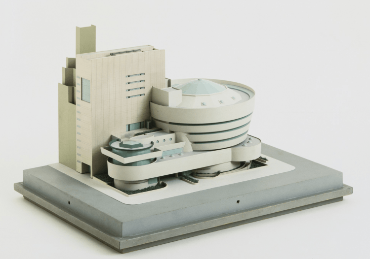 """Addition to the Solomon R. Guggenheim Museum, New York, New York, Scale model 1/16"""" = 1', by Charles Gwathmey"""