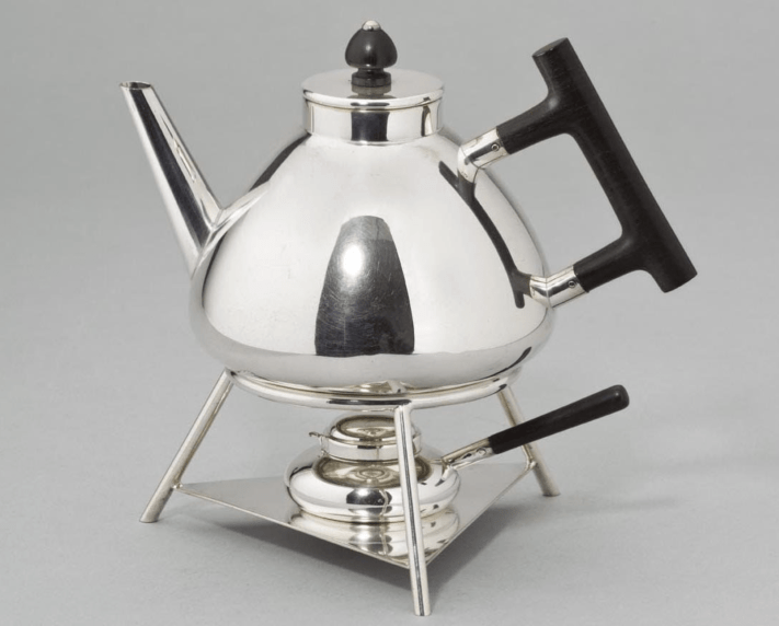 Teapot with warmer by Christopher Dresser