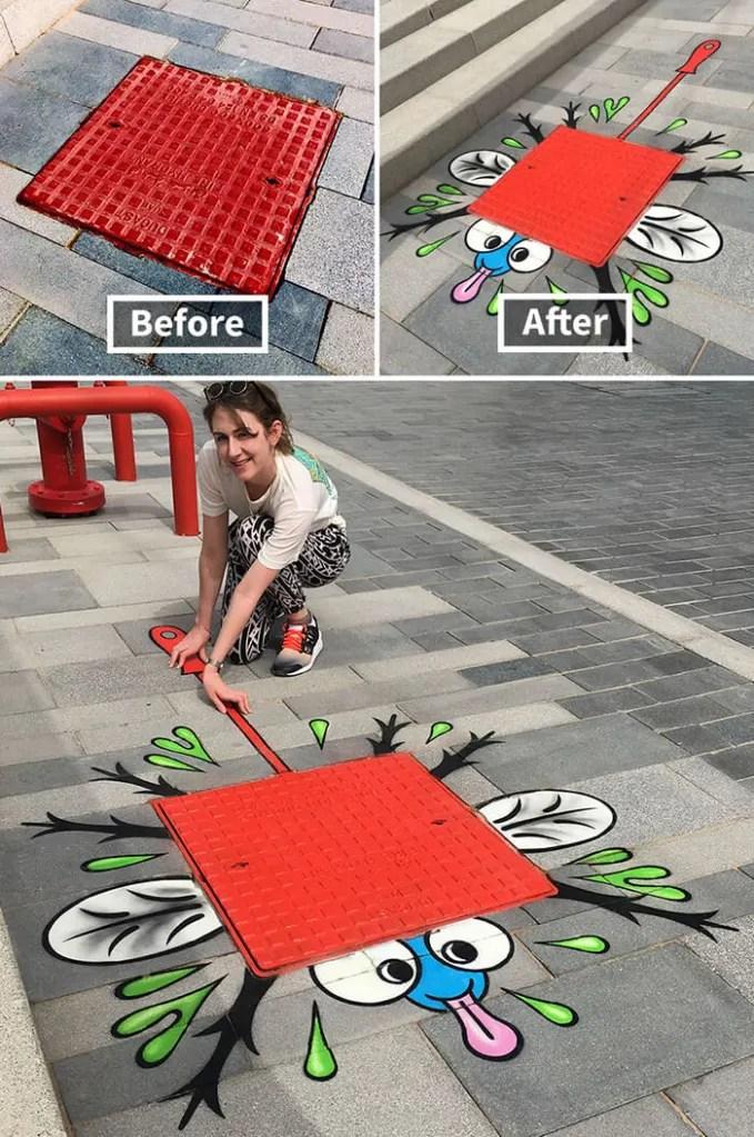 Tom Bob Witty Street Art- Fly Splat