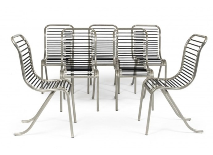 Tubular nickel-plated metal seats designed by Michel Dufet featured image