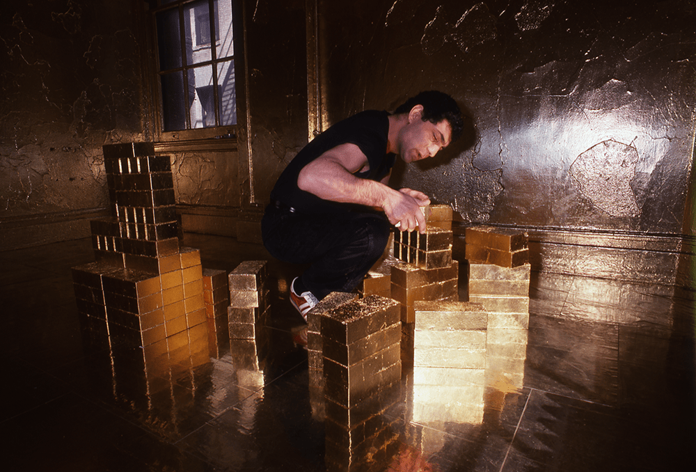 Zadik Zadikian working on installation