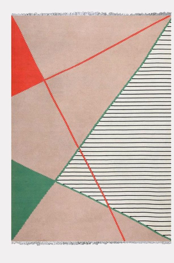 Very large geometric carpet by Antonin Kybal, 1950s