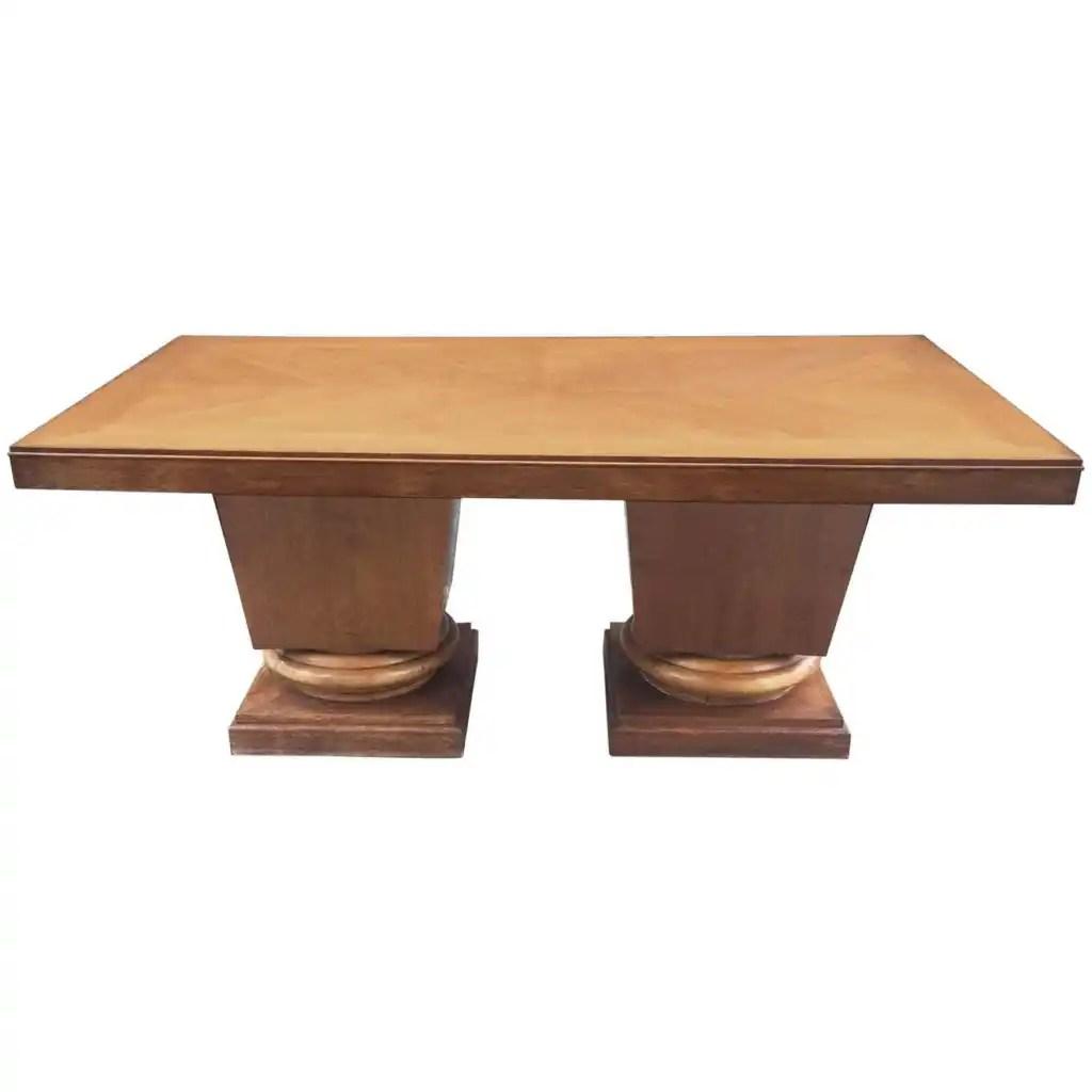 Art Deco Oak Table, circa 1939 by Jacques Klein