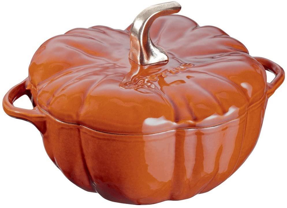 STAUB Cast Iron Pumpkin Cocotte Dutch Oven, 3.5-quart, Burnt Orange