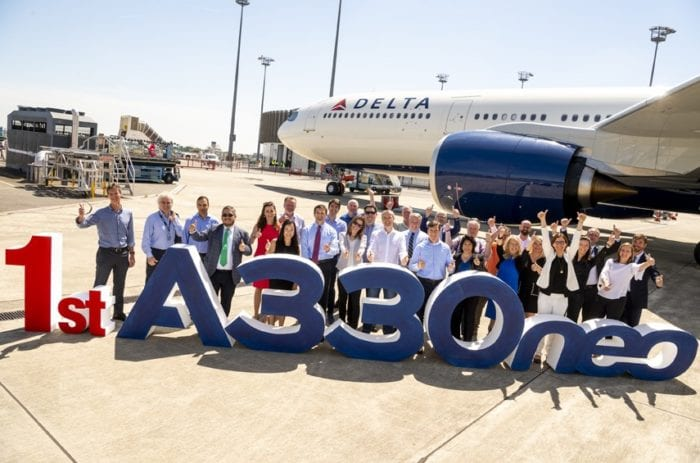 Delta receives first A330neo