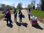 Walking door to door sharing donations was a great experience. We love Fairdale, Illinois.