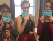 ChiArts High School of Performing Arts participating in #DayOfSilence.