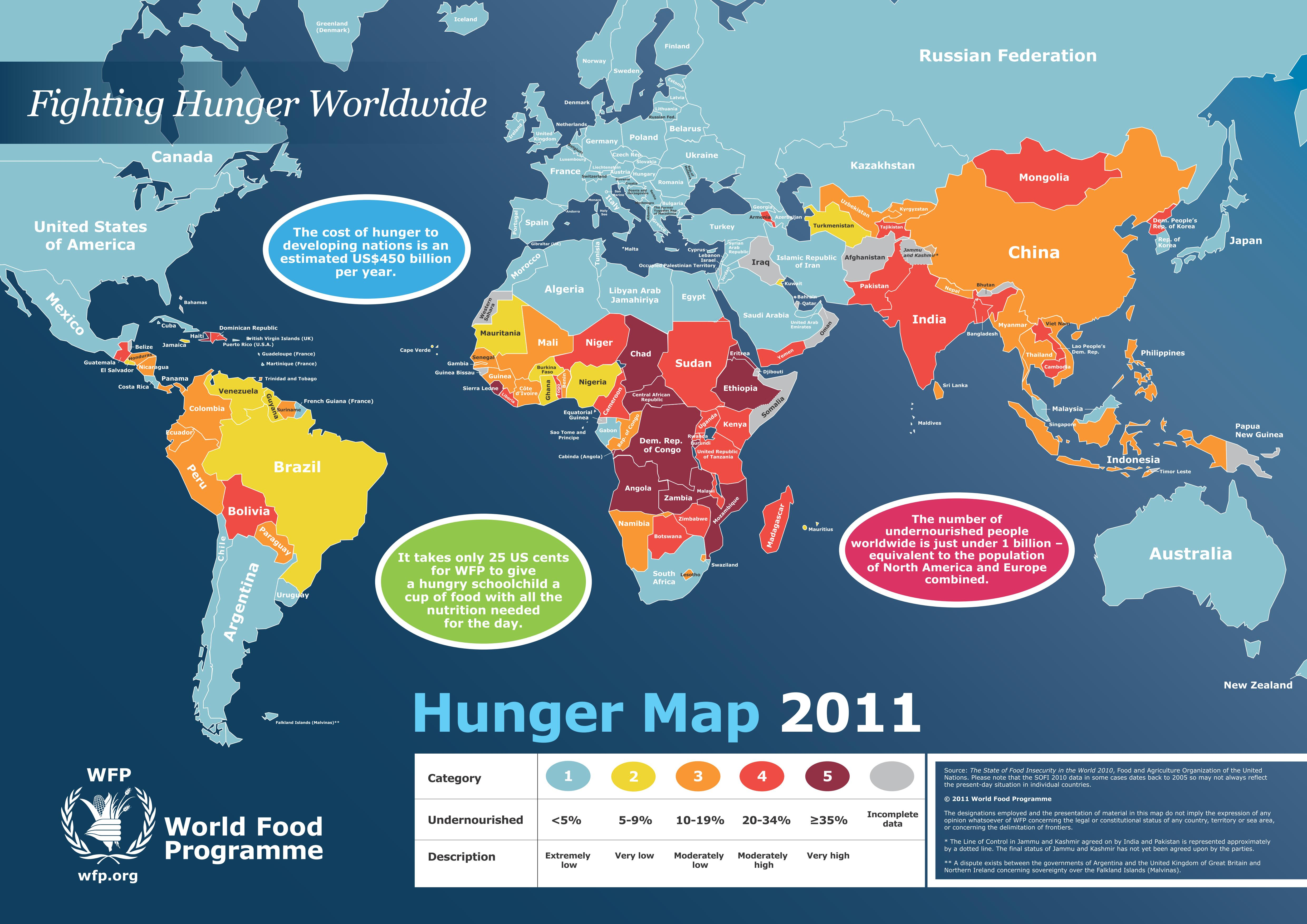 World Food Programme Hunger Map