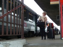 Janie arrives at Epernay station.