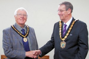 l-r Vice Chairman Cllr David Clements with Chairman Cllr Alan Tanner