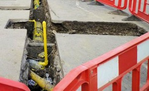gas pipe laying