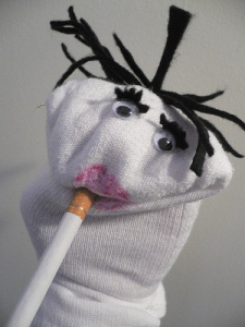 Amelly sock puppet named Broach Hooper