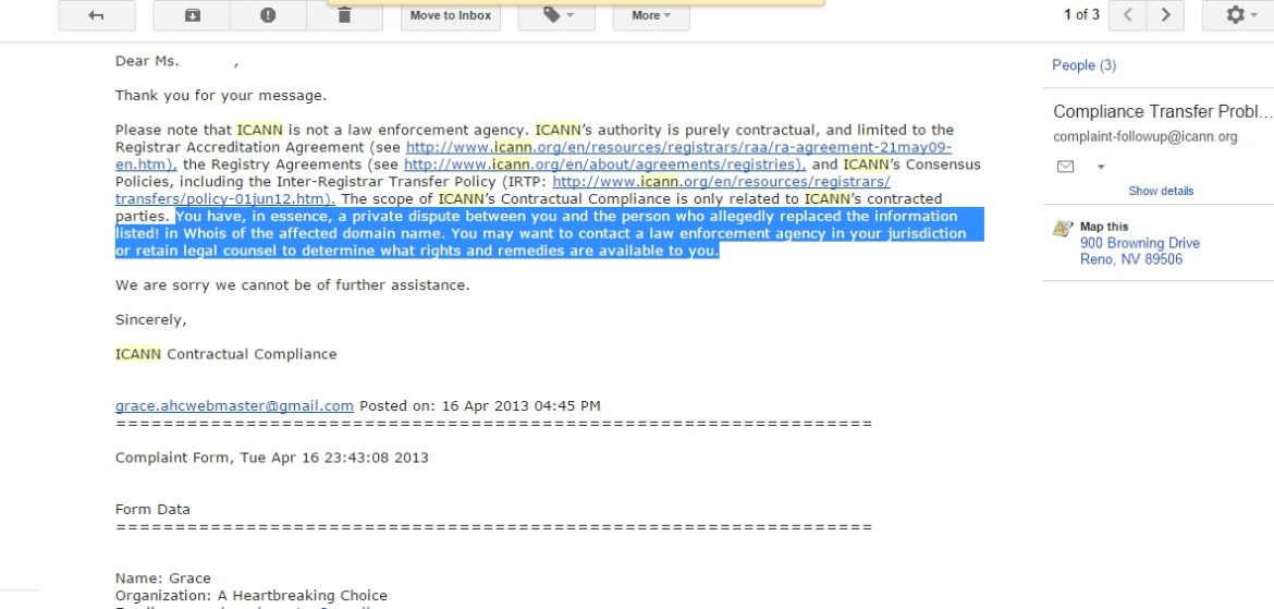ICANN Reply