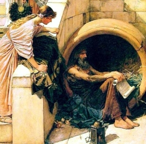 Diogenes (detail) by J.W. Waterhouse