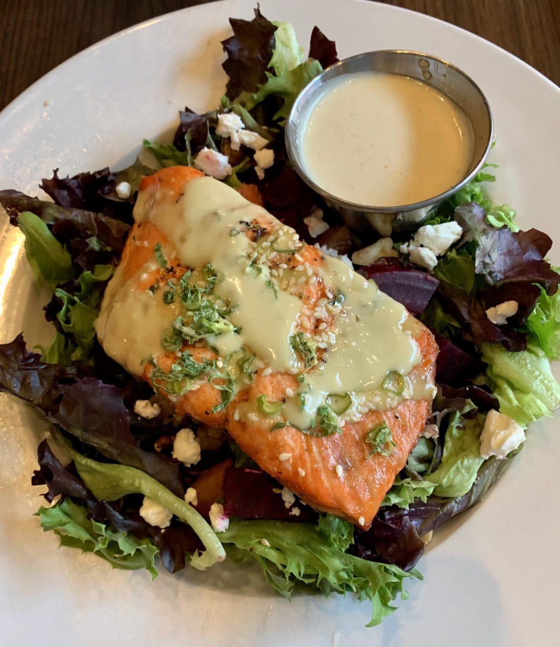 Luke Wholey's Salmon Beet Salad