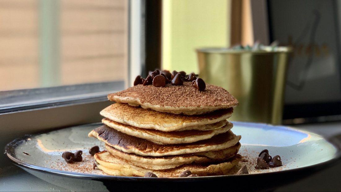 Snickerdoodle Chocolate Chip Pancake Stack