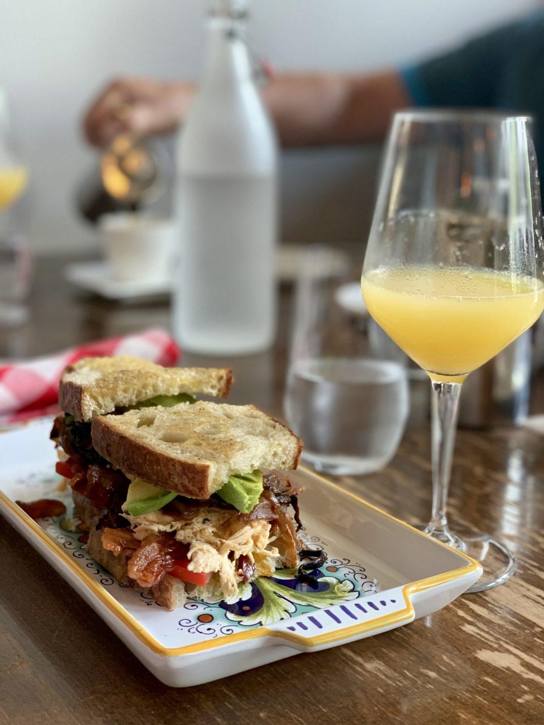 Lolas Sandwich and Mimosa