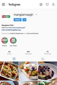 Mangiamo Instagram Account