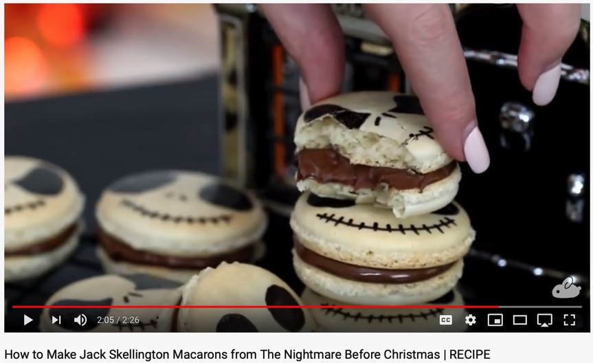Halloween inspired Nightmare Before Christmas macarons