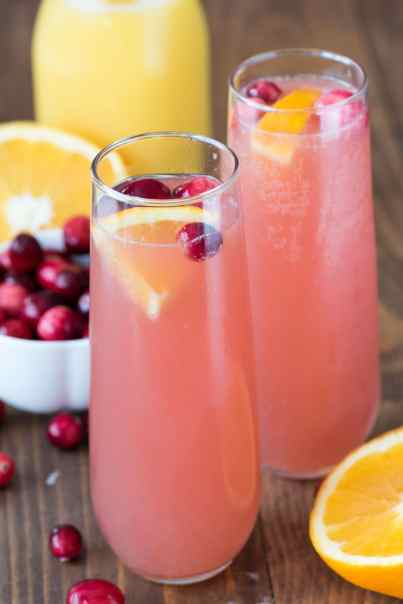 Cranberry Mimosa Bellini