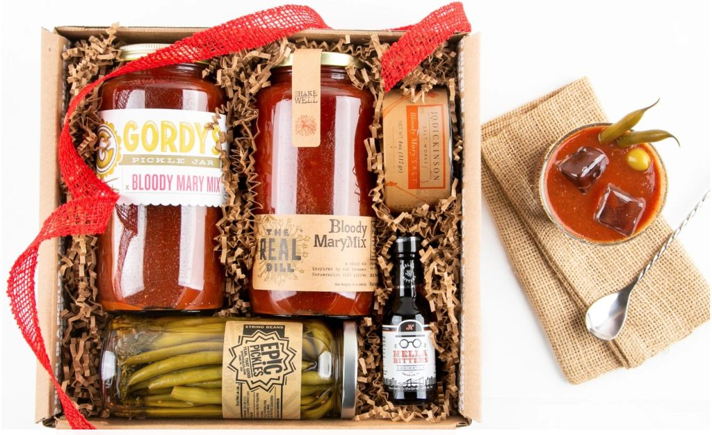 Bloody Mary kit by Mouth includes handpicked bloody mary mix and additional toppings like asparagus and bitters