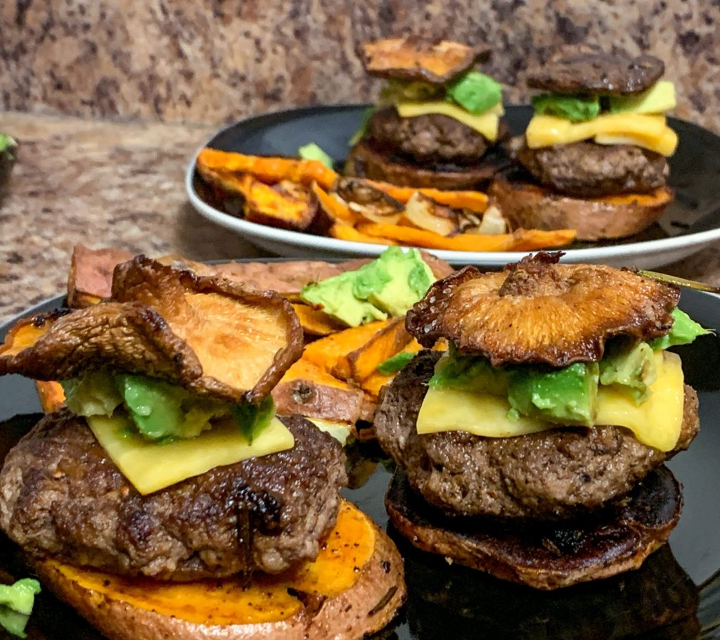 Sweet potato bun sliders