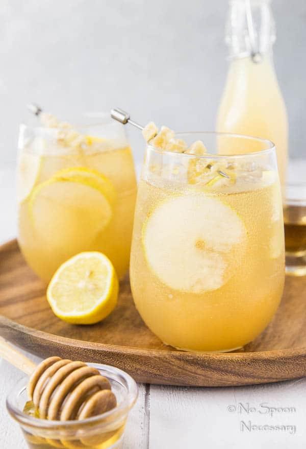 Ginger Pear Bourbon Splash Cocktail