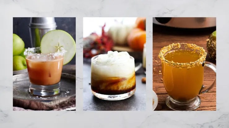 Pumpkin Spice White Russian, Salted Caramel bourbon cocktails